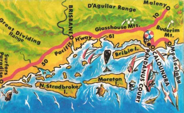 Pandanus Court Sunshine Coast Vintage Map