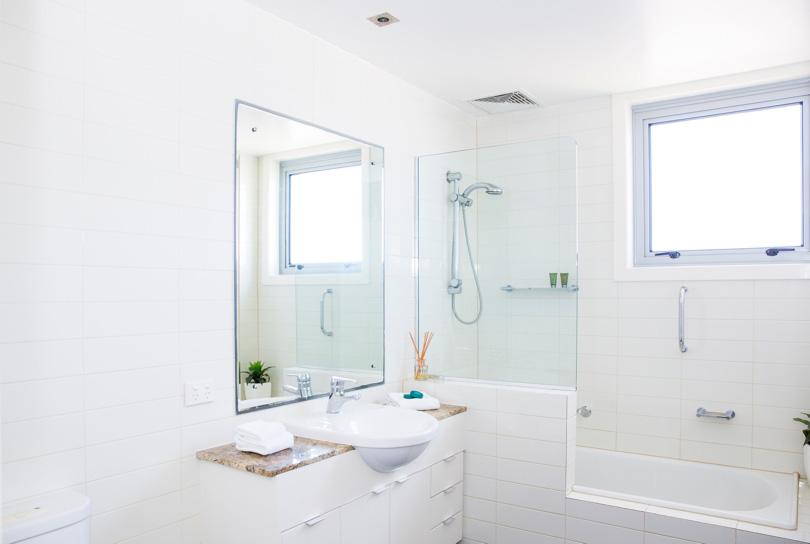 Bathroom in holiday apartments Kings Beach Caloundra, QLD